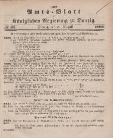 Amts-Blatt der Königlichen Regierung zu Danzig, 20. August 1862, Nr. 34