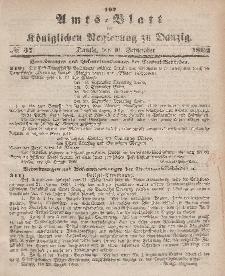 Amts-Blatt der Königlichen Regierung zu Danzig, 10. September 1862, Nr. 37