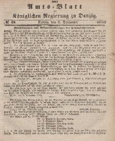 Amts-Blatt der Königlichen Regierung zu Danzig, 17. September 1862, Nr. 38