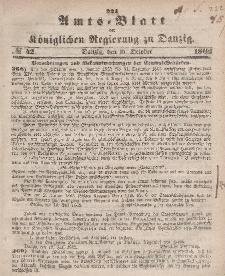 Amts-Blatt der Königlichen Regierung zu Danzig, 15. Oktober 1862, Nr. 42
