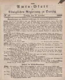 Amts-Blatt der Königlichen Regierung zu Danzig, 29. Oktober 1862, Nr. 44