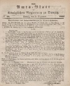 Amts-Blatt der Königlichen Regierung zu Danzig, 3. Dezember 1862, Nr. 49