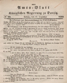 Amts-Blatt der Königlichen Regierung zu Danzig, 10. Dezember 1862, Nr. 50