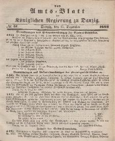 Amts-Blatt der Königlichen Regierung zu Danzig, 17. Dezember 1862, Nr. 51