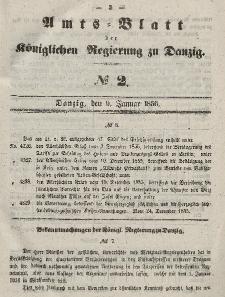 Amts-Blatt der Königlichen Regierung zu Danzig, 9. Januar 1856, Nr. 2