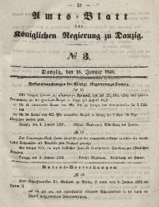 Amts-Blatt der Königlichen Regierung zu Danzig, 16. Januar 1856, Nr. 3