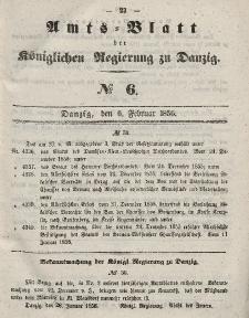 Amts-Blatt der Königlichen Regierung zu Danzig, 6. Februar 1856, Nr. 6