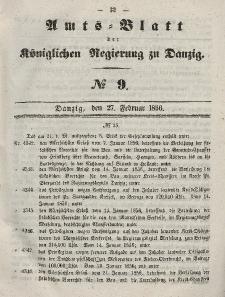 Amts-Blatt der Königlichen Regierung zu Danzig, 27. Februar 1856, Nr. 9