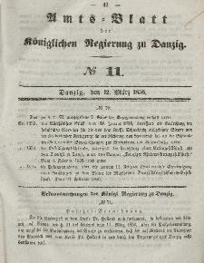 Amts-Blatt der Königlichen Regierung zu Danzig, 12. März 1856, Nr. 11