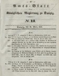 Amts-Blatt der Königlichen Regierung zu Danzig, 26. März 1856, Nr. 13
