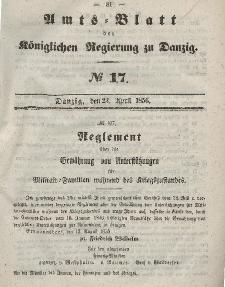 Amts-Blatt der Königlichen Regierung zu Danzig, 23. April 1856, Nr. 17