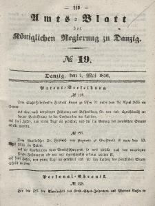 Amts-Blatt der Königlichen Regierung zu Danzig, 7. Mai 1856, Nr. 19