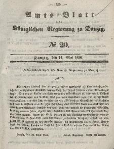 Amts-Blatt der Königlichen Regierung zu Danzig, 14. Mai 1856, Nr. 20