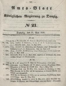 Amts-Blatt der Königlichen Regierung zu Danzig, 21. Mai 1856, Nr. 21