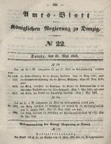 Amts-Blatt der Königlichen Regierung zu Danzig, 28. Mai 1856, Nr. 22