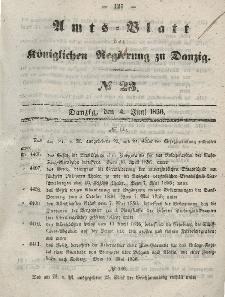 Amts-Blatt der Königlichen Regierung zu Danzig, 4. Juni 1856, Nr. 23