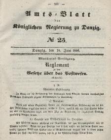 Amts-Blatt der Königlichen Regierung zu Danzig, 18. Juni 1856, Nr. 25