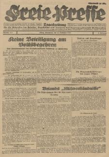 Freie Presse, Nr. 215 Donnerstag 13. September 1928 4. Jahrgang