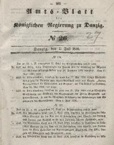 Amts-Blatt der Königlichen Regierung zu Danzig, 2. Juli 1856, Nr. 27