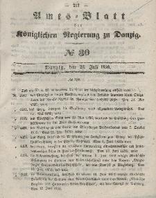 Amts-Blatt der Königlichen Regierung zu Danzig, 23. Juli 1856, Nr. 30