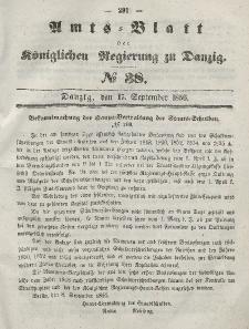 Amts-Blatt der Königlichen Regierung zu Danzig, 17. September 1856, Nr. 38