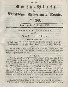 Amts-Blatt der Königlichen Regierung zu Danzig, 1. Oktober 1856, Nr. 40