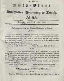 Amts-Blatt der Königlichen Regierung zu Danzig, 22. Oktober 1856, Nr. 43
