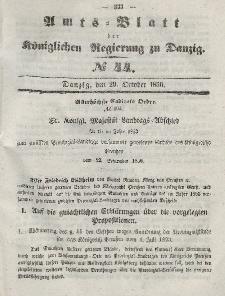 Amts-Blatt der Königlichen Regierung zu Danzig, 29. Oktober 1856, Nr. 44