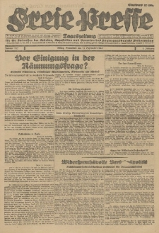 Freie Presse, Nr. 217 Sonnabend 15. September 1928 4. Jahrgang