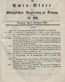 Amts-Blatt der Königlichen Regierung zu Danzig, 3. Dezember 1856, Nr. 49