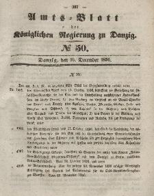 Amts-Blatt der Königlichen Regierung zu Danzig, 10. Dezember 1856, Nr. 50