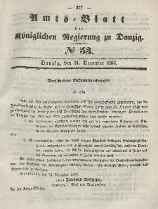 Amts-Blatt der Königlichen Regierung zu Danzig, 31. Dezember 1856, Nr. 53