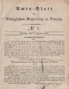 Amts-Blatt der Königlichen Regierung zu Danzig, 1. Januar 1860, Nr. 1