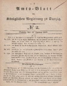Amts-Blatt der Königlichen Regierung zu Danzig, 11. Januar 1860, Nr. 2