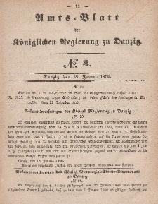 Amts-Blatt der Königlichen Regierung zu Danzig, 18. Januar 1860, Nr. 3