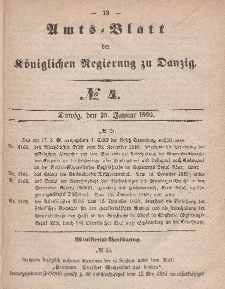 Amts-Blatt der Königlichen Regierung zu Danzig, 25. Januar 1860, Nr. 4