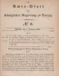 Amts-Blatt der Königlichen Regierung zu Danzig, 8. Februar 1860, Nr. 6