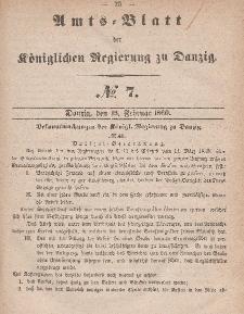 Amts-Blatt der Königlichen Regierung zu Danzig, 15. Februar 1860, Nr. 7