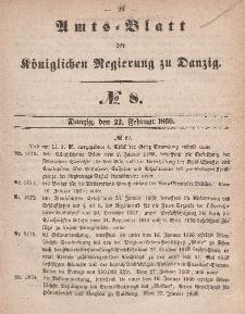 Amts-Blatt der Königlichen Regierung zu Danzig, 22. Februar 1860, Nr. 8