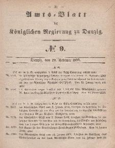 Amts-Blatt der Königlichen Regierung zu Danzig, 29. Februar 1860, Nr. 9