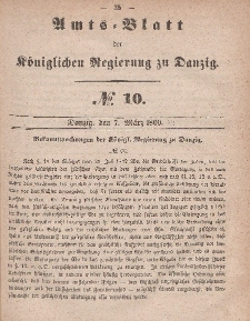 Amts-Blatt der Königlichen Regierung zu Danzig, 7. März 1860, Nr. 10