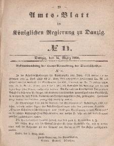 Amts-Blatt der Königlichen Regierung zu Danzig, 14. März 1860, Nr. 11