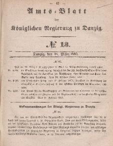 Amts-Blatt der Königlichen Regierung zu Danzig, 28. März 1860, Nr. 13