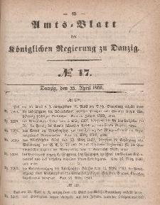 Amts-Blatt der Königlichen Regierung zu Danzig, 25. April 1860, Nr. 17