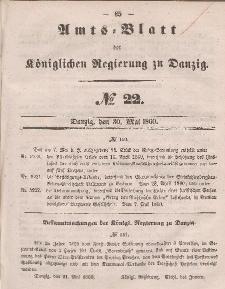Amts-Blatt der Königlichen Regierung zu Danzig, 30. Mai 1860, Nr. 22