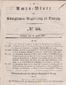Amts-Blatt der Königlichen Regierung zu Danzig, 6. Juni 1860, Nr. 23
