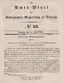 Amts-Blatt der Königlichen Regierung zu Danzig, 13. Juni 1860, Nr. 24