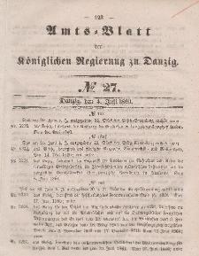 Amts-Blatt der Königlichen Regierung zu Danzig, 4. Juli 1860, Nr. 27