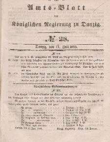 Amts-Blatt der Königlichen Regierung zu Danzig, 11. Juli 1860, Nr. 28