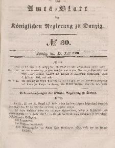 Amts-Blatt der Königlichen Regierung zu Danzig, 25. Juli 1860, Nr. 30